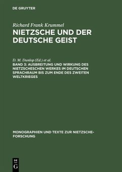 Ausbreitung und Wirkung des Nietzscheschen Werkes im deutschen Sprachraum bis zum Ende des Zweiten Weltkrieges (eBook, PDF) - Krummel, Richard Frank