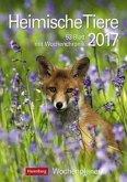 Heimische Tiere 2017 Wochenplaner
