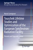 Touschek Lifetime Studies and Optimization of the European Synchrotron Radiation Facility (eBook, PDF)