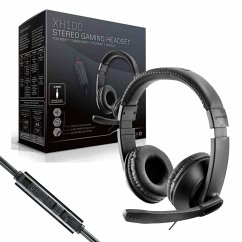XH-100 Stereo Gaming Headset - Universal (Schwarz/Rot)