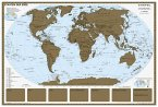Stiefel Rubbelkarte Staaten der Erde, ohne Metallbeleistung