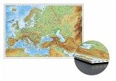 Stiefel Wandkarte Kleinformat Europa und der Nahe Osten physisch zum Pinnen auf Wabenplatte, Planokarte
