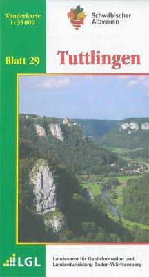 Topographische Wanderkarte Baden-Württemberg Tuttlingen