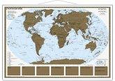 Stiefel Rubbelkarte Staaten der Erde, mit Metallbeleistung