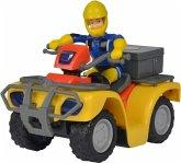 Simba 109257657 - Feuerwehrmann Sam, Mercury-Quad, mit Figur und Zubehör