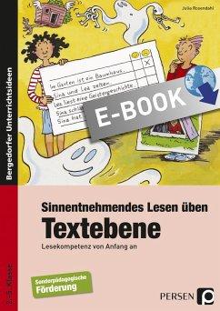 Sinnentnehmendes Lesen üben: Textebene (eBook, PDF) - Rosendahl, Julia