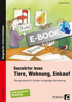 Ganzwörter lesen: Tiere, Wohnung, Einkauf (eBook, PDF) - Schlottmann, Linda