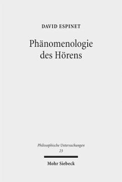 Phänomenologie des Hörens - Espinet, David