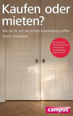 Kaufen oder mieten? (eBook, PDF) - Kommer, Gerd