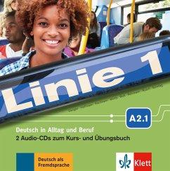 2 Audio-CDs zum Kurs- und Übungsbuch A2.1 / Linie 1 - Dengler, Stefanie; Kaufmann, Susan; Moritz, Ulrike; Rodi, Margret; Rohrmann, Lutz; Rusch, Paul; Sonntag, Ralf