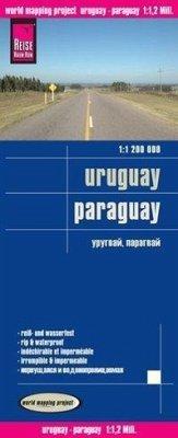 Reise Know-How Landkarte Uruguay, Paraguay (1:1.200.000)