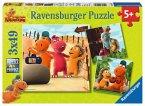 Ravensburger 09272 - Der kleine Drache Kokosnuss, Puzzle 3 x 49 Teile