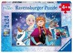 Ravensburger 09074 - Puzzle Disney Frozen, Nordlichter, 2 x 24 Teile