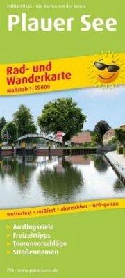 PublicPress Rad- und Wanderkarte Plauer See