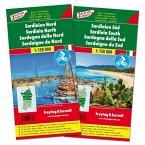Freytag & Berndt Auto + Freizeitkarte Sardinien Nord - Sardinien Süd, 2 Bl.; Sardinia North / Sardegna della Nord / Sard