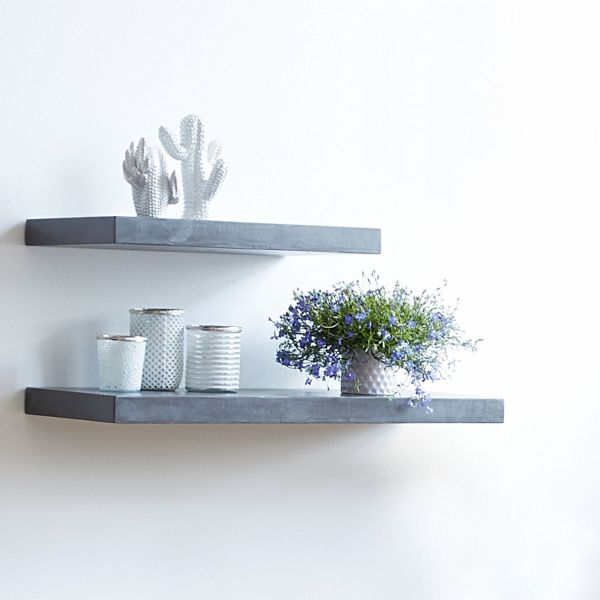 miavilla wandregal silas grau gro portofrei bei b. Black Bedroom Furniture Sets. Home Design Ideas