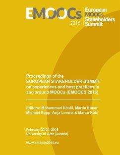 Proceedings of the European Stakeholder Summit on experiences and best practices in and around MOOCs (EMOOCS 2016) (eBook, ePUB)