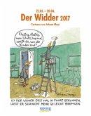 Der Widder 2017. Sternzeichen-Cartoonkalender