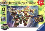 Ravensburger 07597 - Half Shell Heroes, 2 x 12 Teile Puzzle