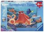 Ravensburger Puzzle - Immer schwimmen, 2x24 Teile