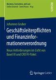 Geschäftsleiterpflichten und Finanzinformationenverordnung (eBook, PDF)