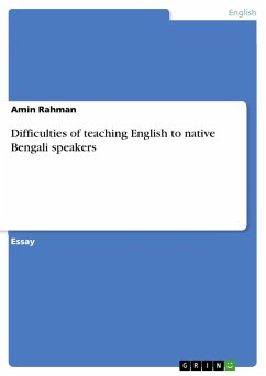 Difficulties of teaching English to native Bengali speakers