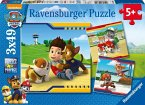 Ravensburger 09369 - Paw Patrol - Helden mit Fell, Puzzle 3x49 Teile