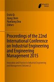 Proceedings of the 22nd International Conference on Industrial Engineering and Engineering Management 2015 (eBook, PDF)