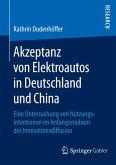 Akzeptanz von Elektroautos in Deutschland und China (eBook, PDF)