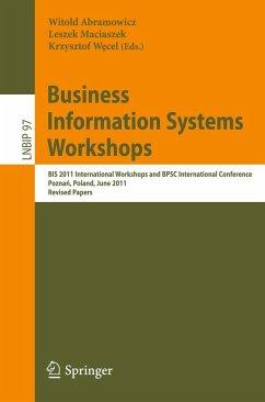 Business Information Systems Workshops (eBook, PDF)