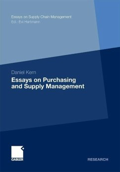 Essays on Purchasing and Supply Management (eBook, PDF) - Kern, Daniel