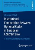 Institutional Competition between Optional Codes in European Contract Law (eBook, PDF)