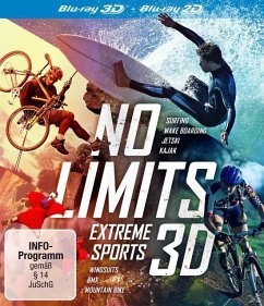 No Limits: Extreme Sports 3D - Surfing - Wake Boarding - JetSki - Kajak - Wingsuits - BMX - Mountain Bike Bluray Box