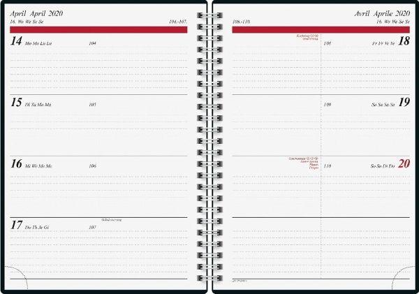 Buchkalender Timing 1 2017 Aquarell. 2 Seiten = 1 Woche, 148 x 210 mm