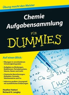 Aufgabensammlung Chemie für Dummies (eBook, ePUB) - Hattori, Heather; Langley, Richard