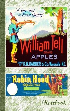 Vintage Label Art Notebook: Wilhelm Tell! (Notizbuch)
