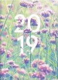 Brunnen Taschenkalender 2019 Grafik Flowers