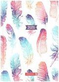 Brunnen Buchkalender 2020 Grafik Federn, A5
