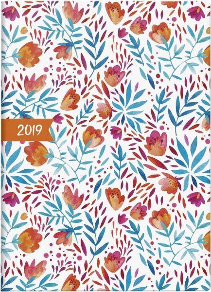 Brunnen Taschenkalender 2019 Flowers