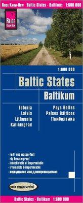 Reise Know-How Landkarte Baltikum / Baltic States / Pays Baltes: Estland, Lettland, Litauen und Region Kaliningrad