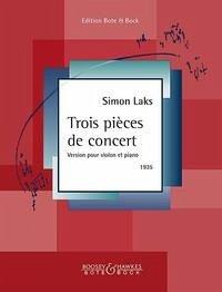 Trois pièces de concert. Violine und Klavier