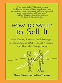 How to Say It to Sell It (eBook, ePUB)