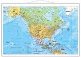 Stiefel Wandkarte Großformat Nord- und Mittelamerika politisch