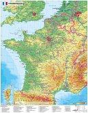 Stiefel Wandkarte Frankreich physisch