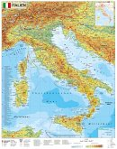 Stiefel Wandkarte Kleinformat Italien physisch