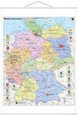 Stiefel Wandkarte Großformat Deutschland politisch mit Wappen