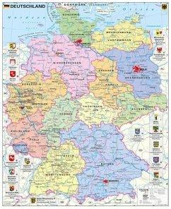 Stiefel Wandkarte Großformat Deutschland politi...