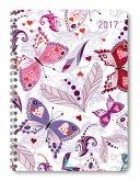 Ladytimer Ringbuch Butterflies 2017 - A5