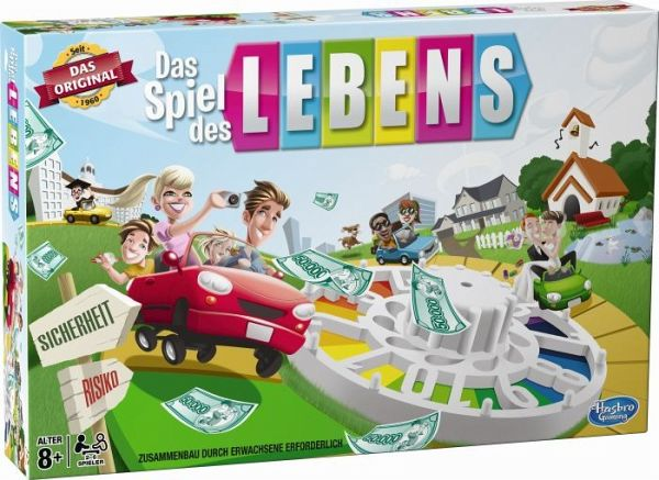 hasbro 14529594 das spiel des lebens familienspiel. Black Bedroom Furniture Sets. Home Design Ideas