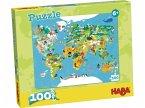 HABA 302003 - Puzzle Weltkarte, 100 XXL-Teile